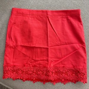 J. Crew Factory Coral Mini Skirt Size 14